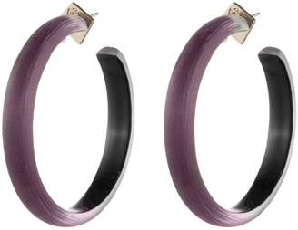 Alexis Bittar Retro Gold Collection Large Lucite(R) Hoop Earrings