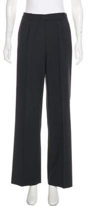 Brooks Brothers Mid-Rise Wide-Leg Pants