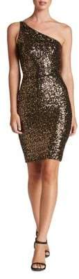 Dress the Population Cher Sequined One-Shoulder Bodycon Dress