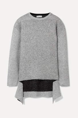 Balenciaga Metallic Knitted Sweater - Silver