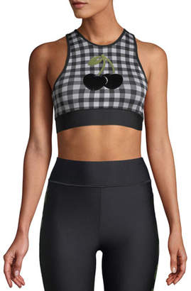 Ultracor Altitude Cherry Checked Performance Crop Bra Top