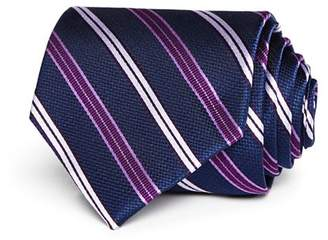 Bloomingdale's The Men's Store at Medium Track Stripe Wide Tie - 100% Exclusive