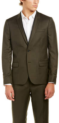 The Kooples Military Twill Fitted Wool Sportcoat