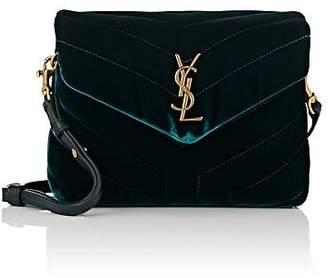Saint Laurent Women's Monogram Loulou Toy Velvet Shoulder Bag