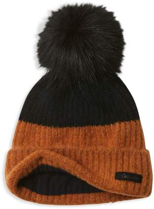 Columbia Winter Blur Faux Fur Pom-Pom Beanie