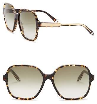 Victoria Beckham Women's 59mm Oversized Modified Rectangular Sunglasses