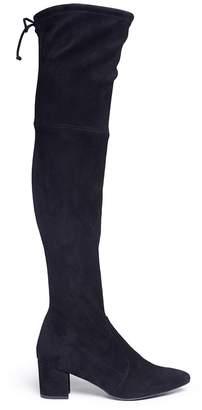 Stuart Weitzman 'Thigh Land' stretch suede thigh high boots
