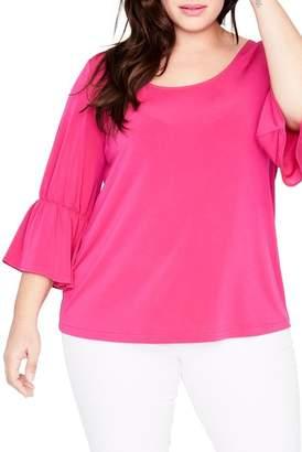 Rachel Roy Ruffle Sleeve Top (Plus Size)