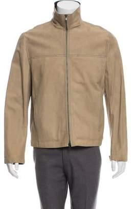 John Varvatos Zip-Up Suede Jacket w/ Tags