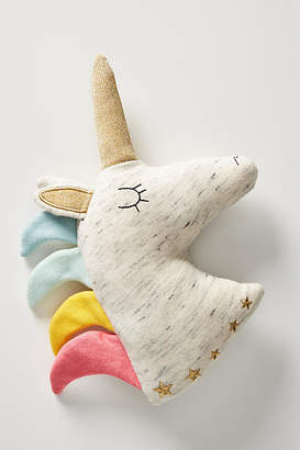 Anthropologie Unicorn Plush Pillow