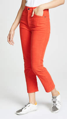 A Gold E AGOLDE Riley Corduroy High Rise Straight Crop Jeans