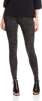 Miraclebody Jeans Women's Marlo Ponte Legging - Cavalier Print