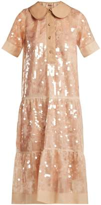 No.21 NO. 21 Sequin-embellished silk dress