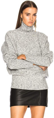 Victoria Beckham Melange Felt Polo Neck Sweater