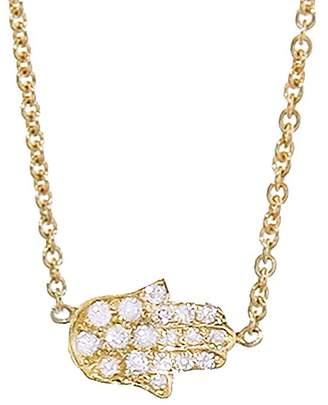 Jennifer Meyer Mini Diamond Hamsa Necklace