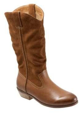 SoftWalk Rock Creek Leather Wide Mid-Calf Boots