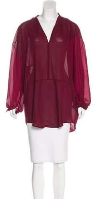 Tome Silk Tunic Top