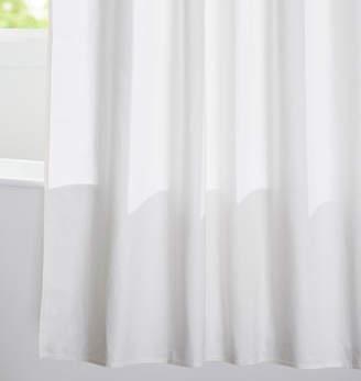 Rejuvenation White Cotton Duck Cloth Shower Curtain