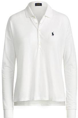 Polo Ralph Lauren Poncho Mesh Polo Shirt $115 thestylecure.com