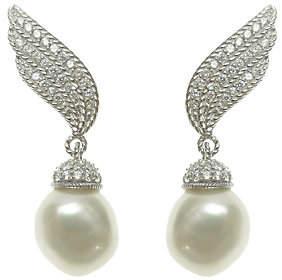 Judith Ripka Sterling & Cultured Pearl Ear Clim