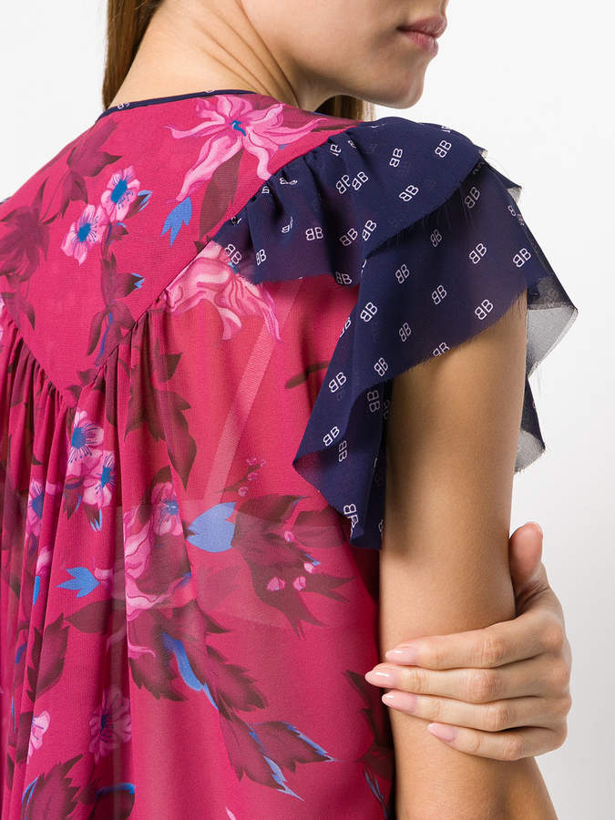 08f229b0 Balenciaga Semi Fitted Flou Dress detail image
