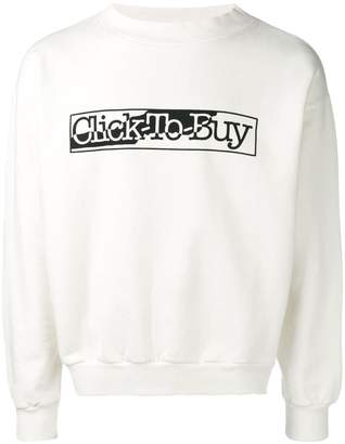 Aries Click To Buy slogan sweatshirt
