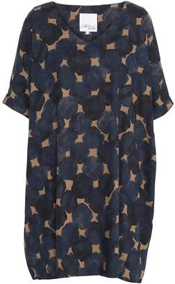 Mcverdi Printed Oversize Tunic Dress With Balloon Silhouette