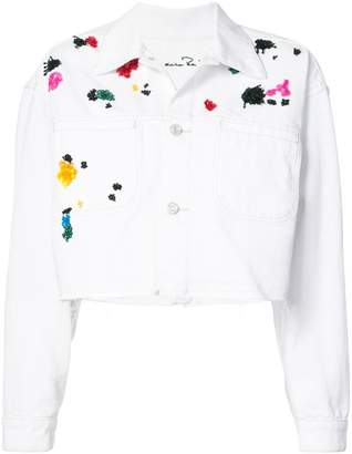 Oscar de la Renta embroidered cropped jacket
