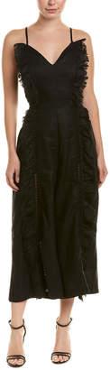 Stevie May Ruffle Linen Jumpsuit