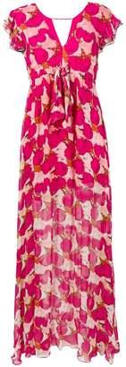Pinko floral flared maxi dress