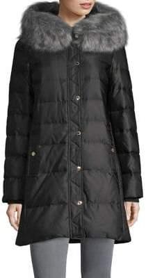 Kate Spade Faux Fur-Trimmed Down Walker Jacket
