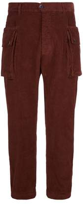 Barena Corduroy Cropped Cargo Trousers