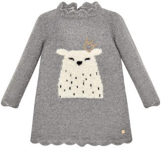 Carrera Pili Long-Sleeve Polar Bear Sweater Dress, Size 2-6