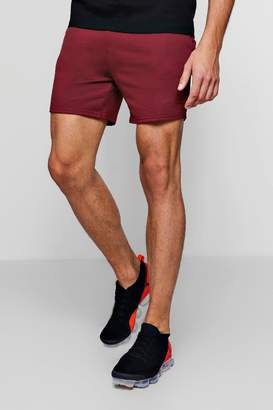 boohoo MAN Signature Embroidered Jersey Short
