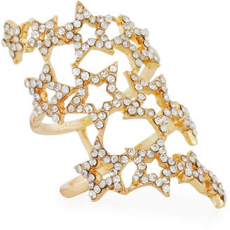 Romeo & Juliet Couture Three-Row Pavé Star Ring, Size 7