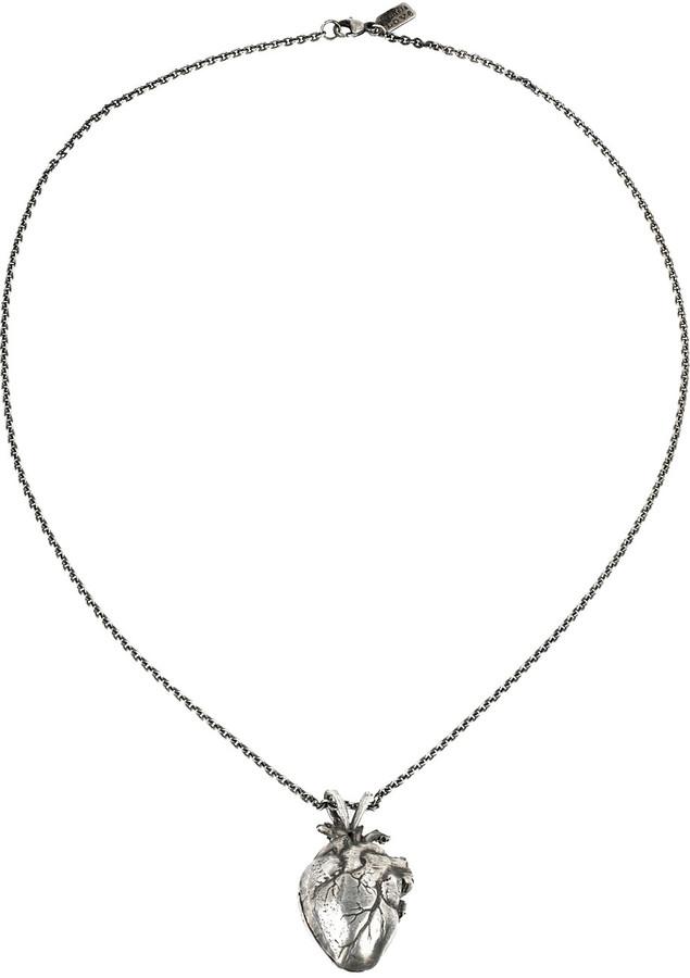 Pamela Love Heart oxidized sterling silver locket necklace