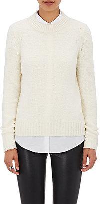 Theory Women's Boska Wool-Cashmere Bouclé Sweater $365 thestylecure.com