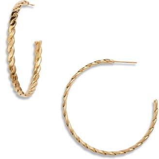Ellie Vail Eloise Braided Hoop Earrings