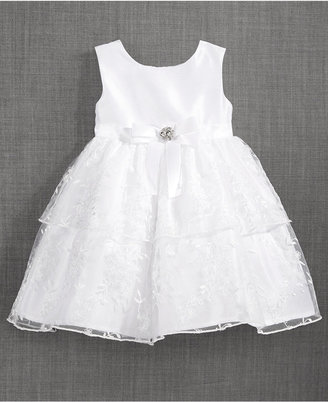 Blueberi Boulevard Tiered Embellished-Bow Dress, Baby Girls (0-24 months) $70 thestylecure.com