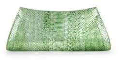 Nancy Gonzalez Textured Python Clutch