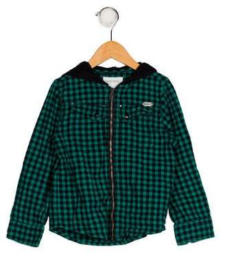 Diesel Boys' Gingham Print Jacket