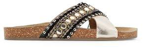 La Redoute Collections Beaded Leather Mules