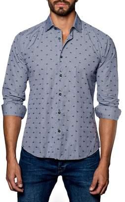Jared Lang Sneaker Print Trim Fit Shirt