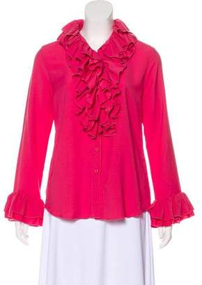 Anna Sui Ruffled Button-Up Blouse