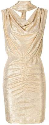 Just Cavalli cowl neck fitted dress