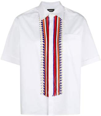 DSQUARED2 beaded half sleeve shirt