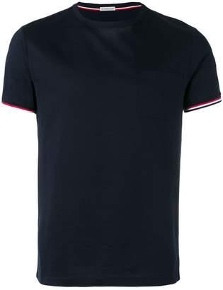 Moncler tri-colour striped trim T-shirt