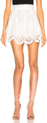 Zimmermann Bowie Scallop Short in Ivory | FWRD