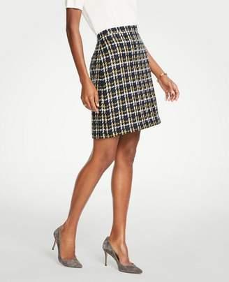 Ann Taylor Tall Tweed A-Line Skirt