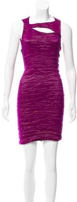 Yigal Azrouel Sleeveless Cutout Mini Dress